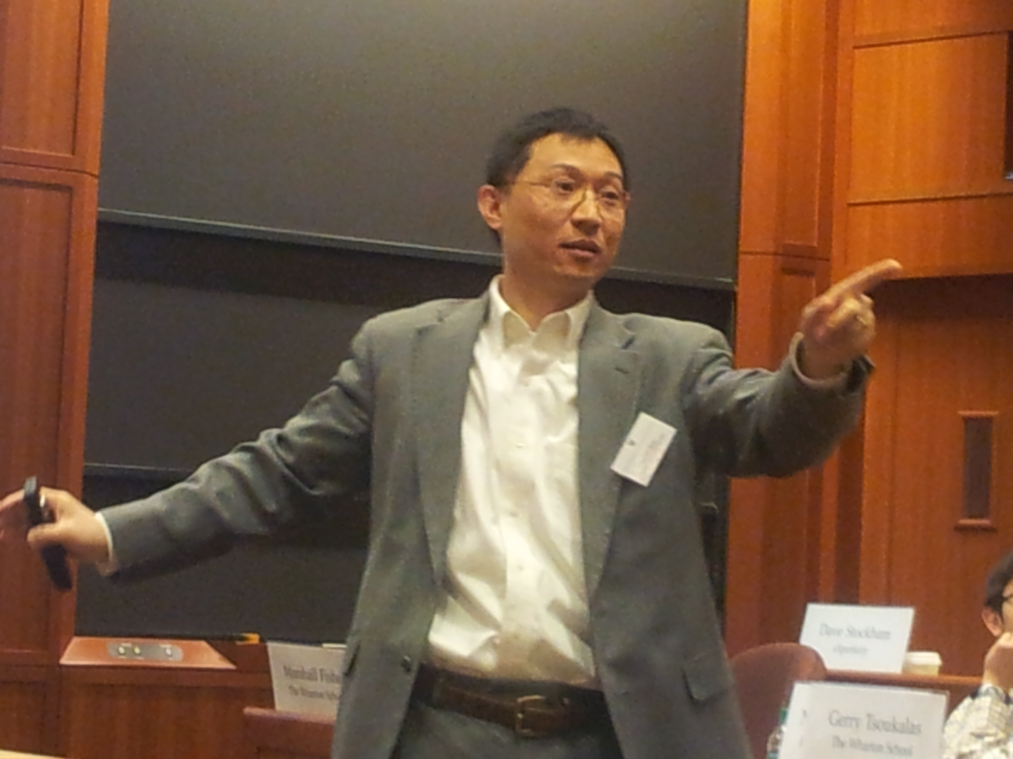 Professor Ren Speaking at Harvard Business School (May 2013)